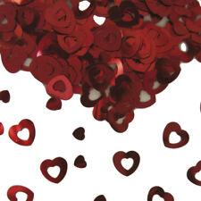 Tischkonfetti Herzen rot Hochzeit Deko Konfetti Red Heart