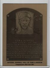 CARL HUBBELL Hall of Fame METALLIC Plaque Card