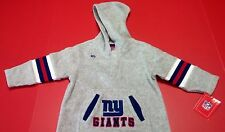New NFL New York NY Giants Kids One Piece Coveralls Ones Hoodie Football 18mth