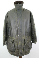 BARBOUR Northumbria Olive Lined Wax Jacket size 107Cm/42In