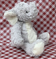 """14"""" Pier 1 One Imports Gray White Soft Elephant Plush Stuffed Animal EUC"""