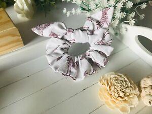 Hair scrunchie with bow - Zebra pattern