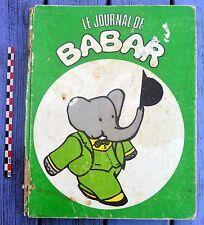 Album Journal de Babar, 1970, n°11 à 18, tranche disparue, reliure fatiguée,
