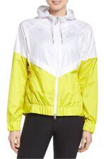 NIKE Women's Sportswear Windrunner Running Full Zip Jacket Yellow / White Medium