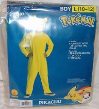 Pokemon Pikachu Costume New Boys L 10 12 2pc Halloween