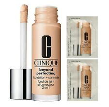 2x Clinique Beyond Perfecting Foundation & Concealer Sachet Tester 1.5ml Neutral