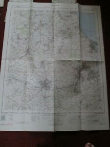 Durham Military map 1962 War office and Air Ministry vintage map No.85 vintage
