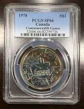 1978 Canada Commonwealth Games Silver Dollar PCGS SP-66, Buy 3 Get $5 Off! R6342