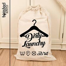 Large Laundry Drawstring Bag Wash Bag Cotton Natural Bag 72X50cm Chic Bathroom