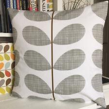 Orla Kiely Cushion Cover Grey Back           Handmade In Cornwall