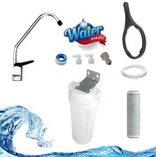 Single Stage Carbon Undersink Water Filter Kit / carbon .5 / Removes chemicals