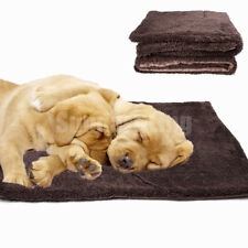 Self-Warming Fleece Pet Bed Cushion Mat Pad Dog Cat Kennel Crate Cozy Soft House