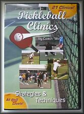 "Pickleball Clinics by Coach ""Mo"", Strategies & Techniques, DVD, 2008, New,"