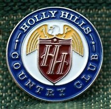 """RARE_Limited Edition_ HOLLY HILLS Country Club 1"""" Ni-Silver Plated Ball Marker"""