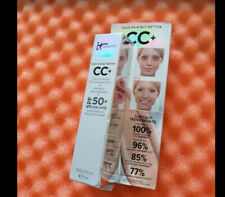 BNIB IT COSMETICS CC+ Cream with SPF 50+ LIGHT Travel SAMPLE 0.135 oz NEVER OPEN