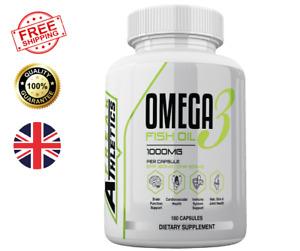 Omega 3 1000mg Fish Oil 180 Softgels