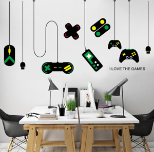 Teen Funny Game Controller Wall Sticker Choose Your Weapon Video Game Wall Decal