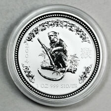 2004 UNCIRCULATED AUSTRALIAN LUNAR SERIES MONKEY, 1oz 0.999 FINE SILVER