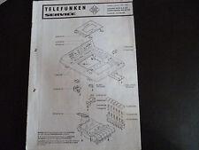 Original Service Manual  Telefunken Recorder HCC 6 A Plattenspieler HS 20 Hifi