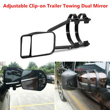 1Pcs Adjustable Clip-On Trailer Towing Mirror Flat Glass For Towing Caravan Boat