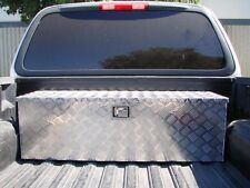 "Aluminum Tool Box Tote Storage for Truck Pickup Bed Trailer Tongue 49""x15"" +Lock"