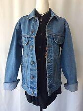 Vintage Retro Oversized Stone Wash Blue Denim Jacket Small Lee