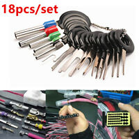 18pcs Car Wire Terminal Removal Tool Connector Extractor Puller Release Pin kit