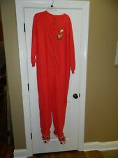 Nick & Nora Red Fox Soft Fleece Footed Pajamas Size 2XL One Piece PJs
