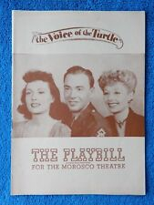 The Voice Of The Turtle - Morosco Theatre Playbill - April 22nd, 1946 - Scott