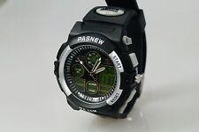 Pasnew Black PSE-048B 50M Waterproof Sports Watch, Analog/Digital Time Display