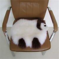 Genuine Sheepskin Fur Seat Cushion Seat Pad Sheepskin Floor Mat Pad Carpet Rug
