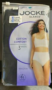 Jockey 3-Pack Elance Briefs Size 8 100% Cotton Comfort Classic Underwear NWT