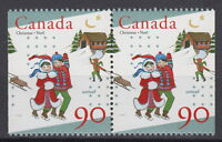 Canada #1629as 90¢ UNICEF and Christmas Pair from Booklet Mint Never Hinged - A