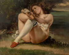 Woman with White Stockings by Gustave Courbet 60cm x 48cm Art Paper Print