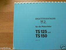M0314 MZ---ERSATZTEILE---TS 125 + TS 150-MODEL