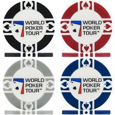 500 x WPT World Poker Tour 11.5g Poker Chips - Brand New Sealed in Rolls