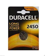 2 x Duracell Knopfzellen Lithium Batterien battery DL2450. 3 Volt
