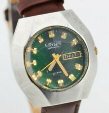 F278 Vintage Citizen DayDate Green Dial Automatic Watch 4-652045Y JDM 15.4