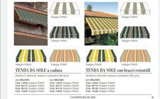 Tenda da sole a caduta da balcone in alluminio con bracci 200x250h cm C/ASTA