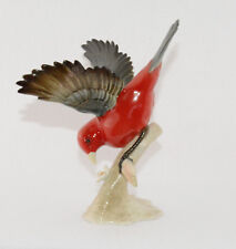 "Hutschenreuther Scarlet Tanager Excellent Condition (6 3/4"" Tall)"
