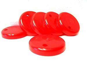 6 RED LIDS FOR SIPPER CUP- LIDS FOR OUR SIPPPY CUPS - MFG USA LEAD FREE