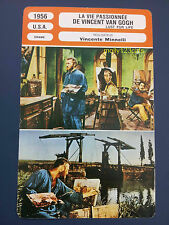 Kirk Douglas Anthony Quinn Lust For Life film  Van Gogh French Trade Card