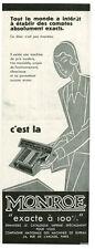 Publicité ancienne caisse enregistreuse Monroe 1930 issue de magazine