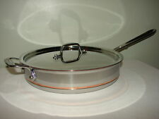 NEW ALL CLAD COPPER CORE 3 QT SAUTE PAN WITH LID FIRST QUALITY USA