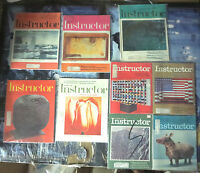 INSTRUCTOR MAGAZINE Lot #7 - 9diff (1975) - vintage ads / great image gallerys