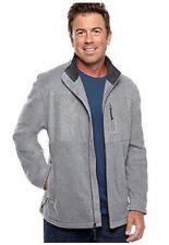 NWT Mens Saddlebred  3XL Fleece Zip Front Jacket  Heather $60.msrp