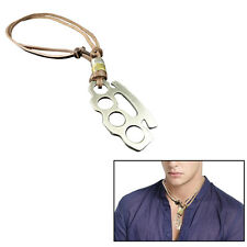 Men's Necklace Leather Necklace Chain Leather Style Surfer Brass Knuckles