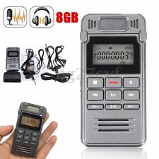 8GB Digital Voice Activated Rechargeable Audio Recorder Dictaphone MP3 Player