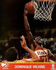 Dominique Wilkins Atlanta Hawks 1991 NBA Hoops 8x10 Glossy Cardstock Photo A1