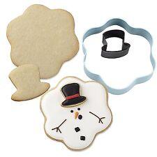 2 tagliapasta cookie cutter pupazzo di neve e cappello Wilton SPEDIZIONI VELOCI